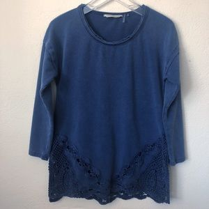 Soft Surroundings Lace Detail Sweater